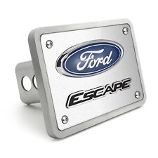 """Ford Escape 3D Logo Brushed 3/8"""" thick Billet Aluminum 2 inch Tow Hitch Cover"""