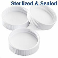 20 PLASTIC SCREW CAPS 1 GALLON + JUGS 38 GLASS REPLACEMENT Sterilized & Sealed !