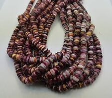 Spiny Oyster Shell Purple Genuine Rondelle 8 MM Beads 16 Inch Strand