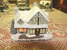 Thomas Kinkade Hawthorne Village Santa's Workshop Toys Christmas Lighted