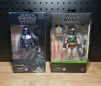 Star Wars The Black Series Carbonized Darth Vader & Boba Fett Return of the Jedi