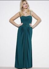 Holly Willoughby Teal Green Jersey Bustier Maxi Dress 10