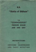 BR Diesel Buffet Car Connoisseur Pressure Boiler & Sink Unit Instructions 1964