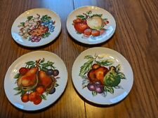 """Lot of 4 Fruit Plates Unmarked 6"""""""