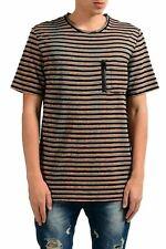 Just Cavalli Homme Laine Rayé Ras Du Cou T-Shirt US M It 50