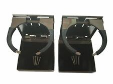 2X Stainless Steel Adjustable Folding Cup Drink Holder Marine Boat Truck RV