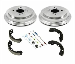 Fits 02-07 Suzuki Aerio 99-02 Esteem (2) Brake Drums & Brake Shoes & Rear Spring