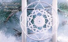 SNOWFLAKE Window Hanging/Crochet Pattern INSTRUCTIONS ONLY