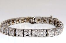 2.30ct natural diamonds bead box rope twist tennis bracelet 14kt g/vs