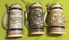 Vintage ~ Steins ~ Avon Series ~ Planes ~ Trains ~ And Automobiles ~ Lot of 3