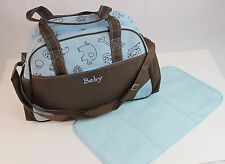 Blue Larger Baby Diaper Nappy Changing mat Mommy Tote Handbag Bag US Seller