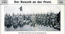 Rumänische Front * Kaiser schreitet die Front der Serethkämpfer ab *  1917