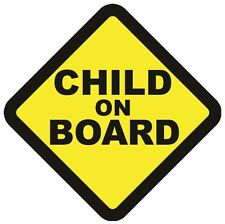 CHILD ON BOARD WARNING SAFETY SIGN Sticker Vinyl Decal for car vehicle window