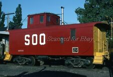 Soo Line Caboose Marquette Michigan Jun 78 VINTAGE KODACHROME SLIDE-Railroad