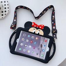 "Minnie Kids Lanyard Silicone Soft Case For Apple iPad Mini 1/2/3/4/5 Pro 10.2"""