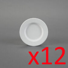 Ceramic Bisque Ready to Paint Your Own Pottery Rimmed Dessert Plate X 12