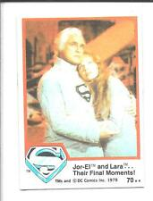 SUPERMAN The Movie trading cards 1978 Series 1 ~ Card #70 TOPPS
