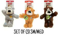 Kong WILD KNOTS - SET OF (3) Sm/Med Bears - Rope Body w/Minimal Stuffing Dog Toy