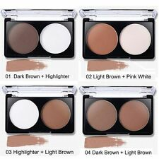 Highlight & Contour Palette Contouring Shading Kit Bronzer Blush Pressed Powder