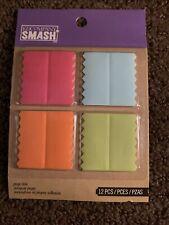 ek success K & Company Fabric Smash Page Tabs Sticky Markers 12 Pcs