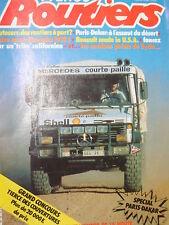 rare  4éme PARIS-DAKAR 1982 FRANCE ROUTIERS N° 15 CAMIONS
