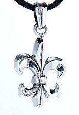 40: Fleur-de-Lis Anhänger 925 Silber französische Lilie Fleur de Lis / Lys Blume