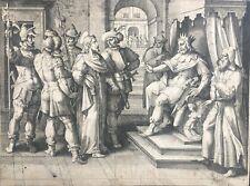 Gravure XVIe, Collaert, Maarten de Vos, Engraving Flemish Print Radierung 16th