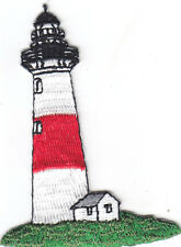 LIGHTHOUSE - NAUTICAL - OCEAN - BEACH-Iron On Embroidered Applique Patch