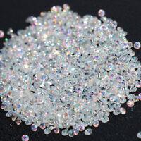 AM_ 1440pcs Crystal Pixie 3D Nail art Micro Zircon 1.2mm Mini Rhinestones Solid