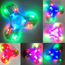 LOT Transparent BLUETOOTH SPEAKER Light LED TRI FIDGET SPINNER rechargeable toy