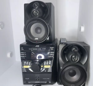 JVC Compact Component System MX-KC58 With 2 Speakers, Remote, Manual. READ DESC.
