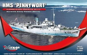 """HMS PENNYWORT K-111 """"ARNOLD'S ADOPTED WARSHIP"""" (W/PE PARTS)#350804 1/350 MIRAGE"""