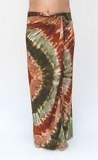 NEW BROWN GREEN TIE DYE BEACH POOL SARONG PAREO / sa341