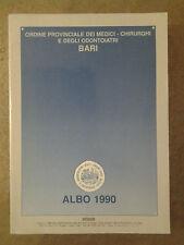 Ordine Provinciale dei Medici - Chirurghi e degli Odontoiatri BARI - Albo 1990