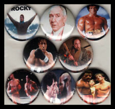 "ROCKY 1"" buttons pinback SYLVESTER STALLONE BALBOA MR T"