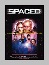 "SPACED CAST X2 PP SIGNED POSTER 12""X8"" PEGG & FROST"