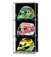 Acrylic Wall Display Case for Three 1:2 Scale Model F1/GP Helmets