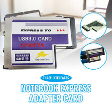 Laptop 54mm Express Card ExpressCard to 2 Port USB 3.0 Adapter Speed up to 5Gbps