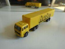 """Majorette Mercedes Truck + Trailer """"Hubo"""" in Yellow"""