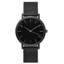 UK Damen Herren Klassisch Armbanduhr Edelstahl Armband Quarz Freizeit Uhren
