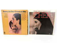 Lot of 2 Sonny & Cher Greatest Hits SPC-3699, The Very Best of Cher UA-LA237-G