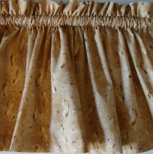 Valance Sand with Footprints Curtain Window Treatment Topper Custom Made