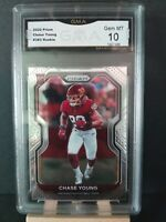 2020 Panini Prizm Chase Young Rc Rookie #383- GMA10 GEM MINT!!