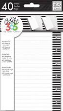 NEW MAMBI The Mini Happy Planner - Note & Graph Paper - B&W stripes