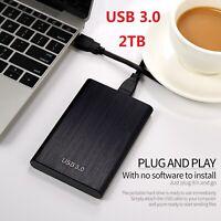 2TB Externe Festplatte 2.5'' HDD USB 3.0 Memory U Drive Tragbare für PC Laptop