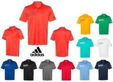 Addidas Performance Polo Shirt, Chest Stripes, Upf 50+, Short Sleeve, S-3Xl