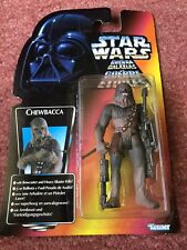 Kenner STAR WARS Chewbacca Power Of The Force Red Orange Card figure