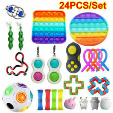 24X Fidget Toys Set Sensory Tools Bundle Stress Relief Hand Kids Adults Toy