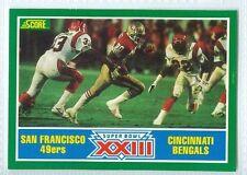 J Montana Super Bowl 23 XXIII 1989 Score '89 Football Card #275 NM 49ers Bengals