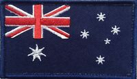Aussie Flag Patch with Hook & Loop Backing, Quality !